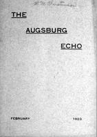 Augsburg Echo February, 1923, Page 01
