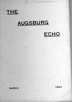 Augsburg Echo March, 1924, Page 01