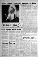 Augsburg Echo April 17, 1962, Page 01