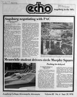 Augsburg Echo September 29, 1978, Page 01