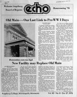 Augsburg Echo October 27, 1978, Page 01