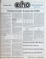 Augsburg Echo April 20, 1979