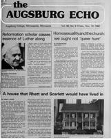 Augsburg Echo November 12, 1982, Page 01