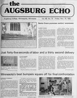 Augsburg Echo November 19, 1982, Page 01