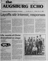 Augsburg Echo November 5, 1982, Page 01