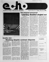 Augsburg Echo February 22, 1985