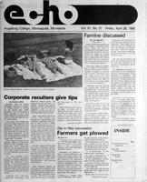 Augsburg Echo April 26, 1985