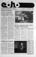Augsburg Echo November 7, 1986