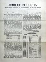 Jubilee Bulletin April 1, 1930