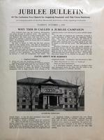 Jubilee Bulletin October 1, 1929