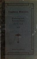 Augsburg Seminary Catalog, 1909-1910