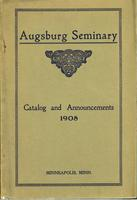 Augsburg Seminary Catalog, 1907-1908