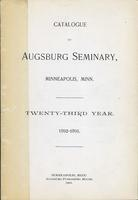 Augsburg Seminary Catalog, 1892-1893