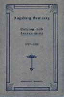 Augsburg Seminary Catalog, 1915-1916