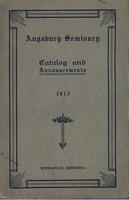 Augsburg Seminary Catalog, 1912-1913