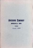 Augsburg Seminary Catalog, 1905-1906