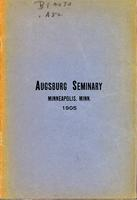 Augsburg Seminary Catalog, 1904-1905