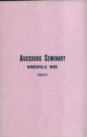 Augsburg Seminary Catalog, 1900-1901
