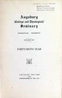 Augsburg College Catalog, 1917-1918