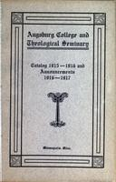 Augsburg College Catalog, 1915-1916