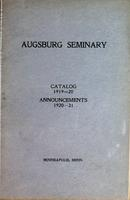 Augsburg College Catalog, 1919-1920