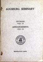 Augsburg College Catalog, 1922-1923