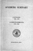 Augsburg College Catalog, 1924-1925
