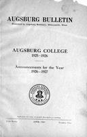 Augsburg College Catalog, 1925-1926