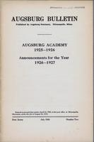 Augsburg Academy Catalog, 1925-1926, Page 01