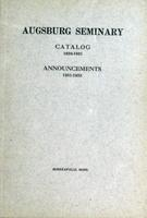 Augsburg College Catalog, 1930-1931, Page 001