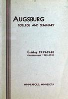 Augsburg College Catalog, 1939-1940, Page 01