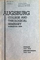 Augsburg College Catalog, 1944-1945