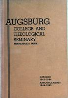 Augsburg College Catalog, 1943-1944
