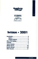 Augsburg College Interim Catalog, 2001