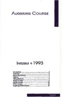Augsburg College Interim Catalog, 1993