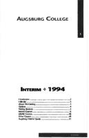 Augsburg College Interim Catalog, 1994