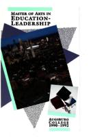Master of Arts in Education (MAE) Catalog, 1990-1992