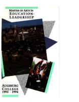 Master of Arts in Education (MAE) Catalog, 1992-1994