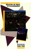 Master of Arts in Leadership (MAL) Catalog, 1990-1991