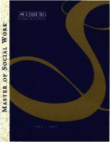 Master of Social Work (MSW) Catalog, 1995-1997