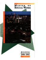 Master of Social Work (MSW) Catalog, 1990-1992