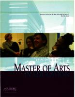 Master of Arts in Education (MAE) Catalog, 2005