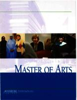 Master of Arts in Nursing (MAN) Catalog, 2005