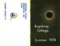 Augsburg College Summer Catalog, 1974