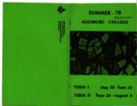 Augsburg College Summer Catalog, 1978