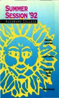 Augsburg College Summer Catalog, 1992
