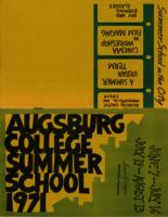 Augsburg College Summer Catalog, 1971