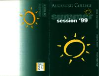 Augsburg College Summer Catalog, 1999