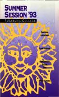 Augsburg College Summer Catalog, 1993