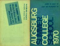 Augsburg College Summer Catalog, 1970